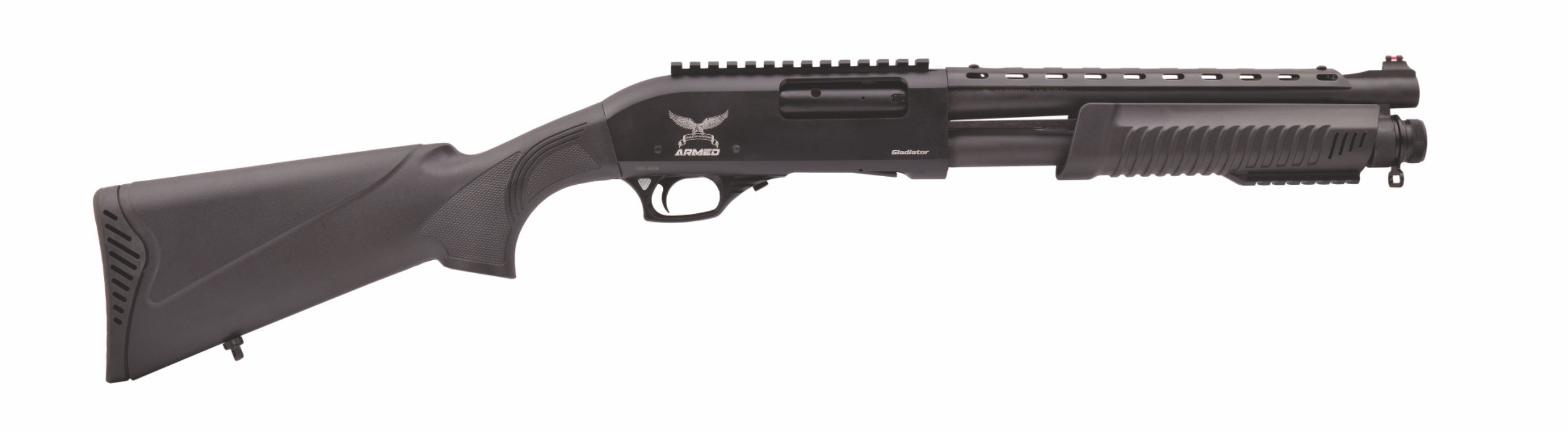 "Tactical G1 Pump Action, 12 GA,13 "" barrel w/ Heatshield & Rail"